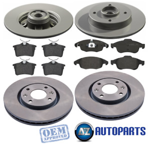 For Citroen C4 Grand Picasso Front & Rear Brake Discs And Pads w/ ABS Rings