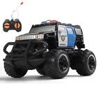 Remote Control Police Car Toy RC 1:43 Scale Battery-Operated Monster Truck