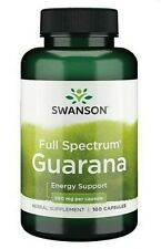 Swanson Guarana Seeds 500 mg  natural source of caffeine 100 Capsules