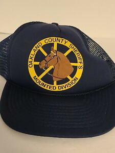 Vintage Snapback Hat - Oakland County Sheriff's Mounted Division Blue Mohr's EUC