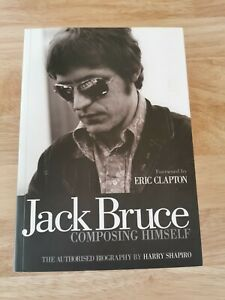 JACK BRUCE SIGNED BOOK  ERIC CLAPTON CREAM