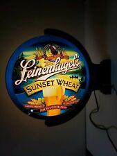 Leinenkugel'S Sunset Wheat Beer Rotating Lighted Pub Sign Maiden Motion Retired