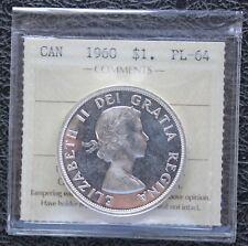 1960 CANADA Silver Dollar - ICCS PL64