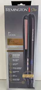 "NIP REMINGTON Pro S9510 1"" Pearl Ceramic Flat Iron Hair Straightener Pink/Black"