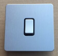 GET Ultimate Screwless Flatplate 1G 10A Switch - Stainless Steel (D4)
