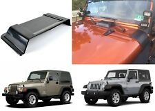 Black Cowl Vent Hood Scoop For 1997-2017 Jeep Wrangler TJ JK New Free Shipping