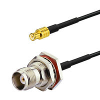 TNC Female Bulkhead to MCX Male Pigtail Cable RG174 20cm for WiFi Antenna
