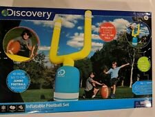 Discovery INFLATABLE FOOTBALL SET 7 ft. GOALPOST with 18 inch JUMBO FOOTBALL
