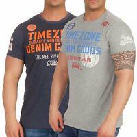 Timezone Herren T-Shirt Herrenshirt Kurzarmshirt Rundhals Basic Shirt 22-10069