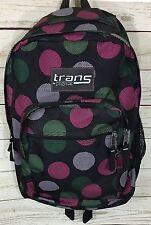 Trans by Jansport Black Pink Polka Dot Book Bag Backpack For School Travel