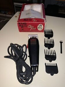 WAHL Multi-Cut Pet Clippers Model PCMC-w/4 Attachments-Excellent Working Cond!