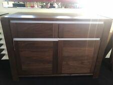 EX Display Shop Floor Model Walnut 2 Door 2 Drawer Sideboard