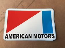 "3.5""X 5.5"" AMERICAN MOTORS Sticker (Red,White,Blue,Black VINYL) Vintage Lookin"