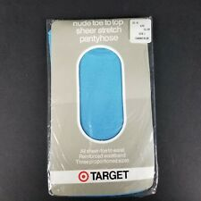 Vintage Target Caribe Blue Control Top Pantyhose Tights Stockings Size 3 New