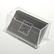 Desktop Business Card Holder Display Stand Acrylic Plastic Desk Shelf NEW GN