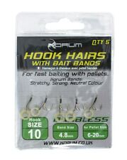 Korum Hook Hairs With BAITBANDS - Barbless Size 8