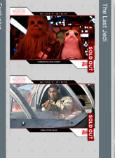 Topps Star Wars Card Trader TLJ  Chewbacca & Porg + Finn at Helm Widevision