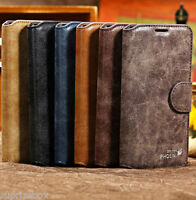 GENUINE SUEDE LEATHER WALLET STAND CASE FOR SAMSUNG GALAXY S4 i9500 & S5 i9600