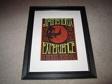"Framed Jimi Hendrix Concert Mini Poster, 1969 Royal Albert Hall, 14""x16.5"" Rare!"