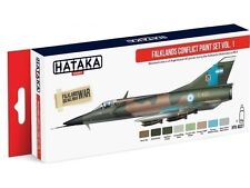HATAKA As27 Falklands Argentinean Air Force Acrylic Paint Set 8 X 17ml Bottles T