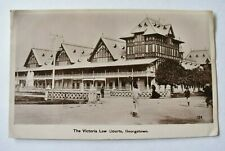 More details for vintage postcard the victoria law courts georgetown guyana posted real photo rp