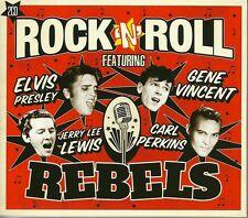 ROCK 'N' ROLL REBELS - 2 CD BOX SET - ELVIS PRESLEY, JERRY LEE LEWIS & MORE