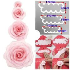 3pc Fast Make Easiest Rose Ever Flower Petal Modelling Fondant Cutter Cake Mould