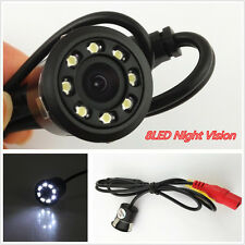DC12V 8LED Car Offroad Rear View Reversing CCD HD Waterproof Camera 18.5mm Drill