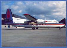 AIR WEST Airlines Fokker F-27 Mk200 Postcard