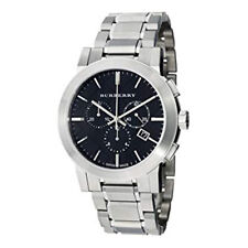 Burberry BU9351 Check Black Dial Chronograph Stainless Steel Men's Watch 42mm
