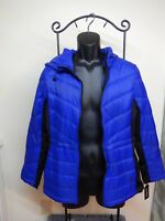 NEW MEDIUM GUESS Los Angeles womens DOWN Insulated Quilted Blue JACKET Packable