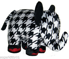 PERSONALIZED Fiesta Couture Houndstooth Pattern Black & White Elephant