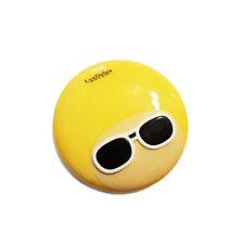 Kontaktlinsen Aufbewahrungsbox SET-Brilledesign-Rund-Stabil-Gelb + Zubehör