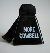 MORE COWBELL 3.5 inch high Black Cow Bell with strap SNL Will Ferrell