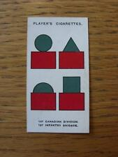 1925 Cigarette Card: Players - Army Corps & Divisional Signs - 112) 1st Canadian