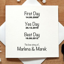Personalised Handmade Love Story Card - Wedding Day/Anniversary, Husband/Wife