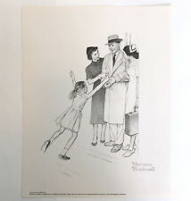 Norman Rockwell Signed Print LEAVING HOSPITAL WITH NURSE Original Pencil Drawing
