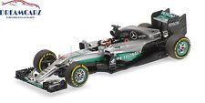 Minichamps 417160744 1/43 Mercedes AMG W07 F1 2016 Abu Dhabi Lewis Hamilton