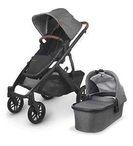 UPPAbaby Vista V2 Stroller - Greyson Charcoal Melange/Carbon