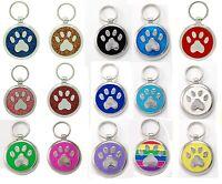 Pet Tag Custom Engraving Paw Print  Pet Tags  Charm Collar Dog Tag Pets ID
