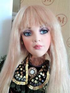 """2003 Jan McLean BELLE II 32"""" Porcelain Doll Mint in Box + Shipper Glamour Girl"""