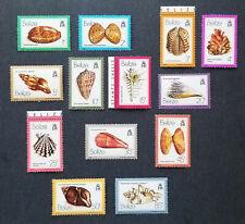 Belize 1980 Set of 13 Mnh Seashell Stamps Scott 471-483 Shells