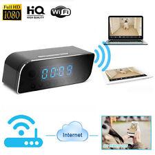 Wi-Fi sans fil vision nocturne Espion Horloge Caméra Caméscope Full HD 1080P