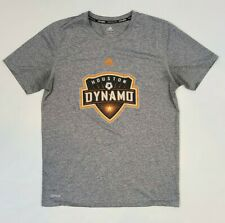 Adidas Climalite MLS Houston Dynamon Gray Polyester T-shirt Youth L Adult S