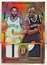 Kevin Garnett / Deron Williams 2014-15 Panini Gold Standard 2 color GU Patch /25