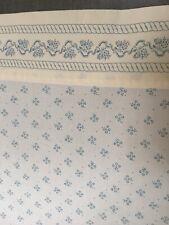 Vintage Laura Ashley Kensington Blue TWIN flat Sheet EUC