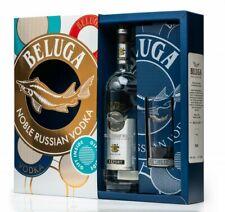 Wodka Beluga Noble 0,7L mit Longdrink Glas Водка Russischer Vodka Geschenk-Set