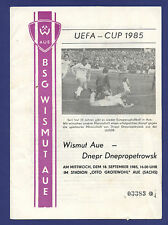 Orig.PRG   UEFA Cup   85/86   BSG WISMUT AUE - DNEPR DNEPROPETROWSK  !!  SELTEN