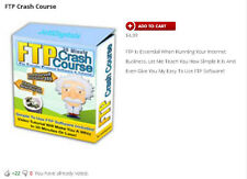 FTP Crash Course And FREE Bonus FTP Software - Shipped on 1 CD / DVD