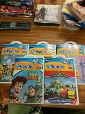 VTech V Reader Lot Tinkerbell, Kung Fu Panda 2, Chuggington, Toy Story 3 used